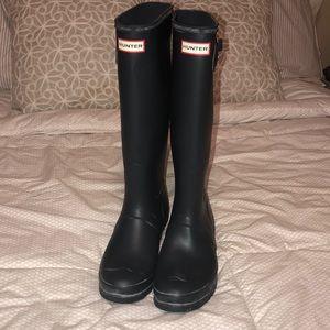 Hunter Original Navy Tall Rain boots